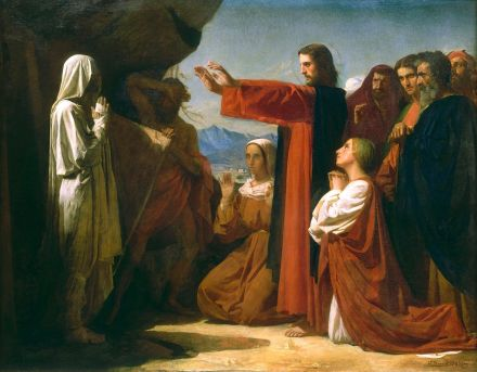 Christ raising the dead