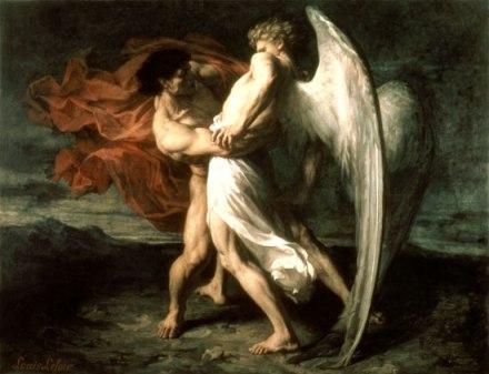 Jacob lutte avec l'ange_Alexandre Louis Leloir