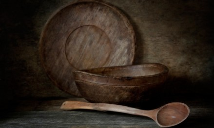 Wooden-Still-Life-dishes-utensils-bowl-spoon-vintage-background-694x417