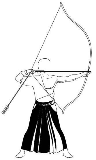 Kyudo archer