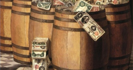 Victor_Dubreuil_-_Barrels_on_Money_c._1897_oil_on_canvas-620x330