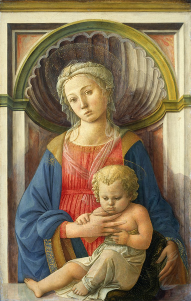 Fra Filippo Lippi, Madonna and Child, Italian, c. 1406 - 1469, c. 1440, tempera on panel, Samuel H. Kress Collection