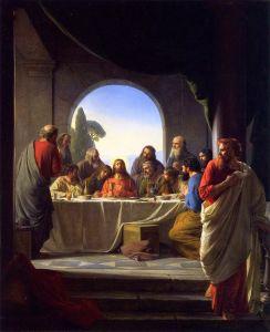 Judas se retirant du dernier repas_Carl Bloch