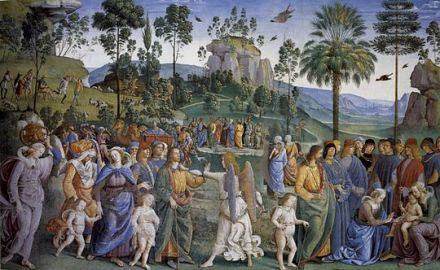 Moise partant pour l'Egypte _ Perugino 1493