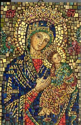 Mosaic Mary et Jésus