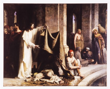 Christ healing the sick at the pool of Bethesda_Carl Heinrich Bloch, 1883