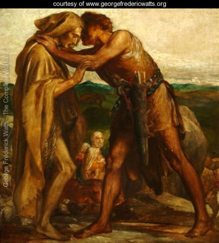 Jacob-and-Esau_ George Watts _1878