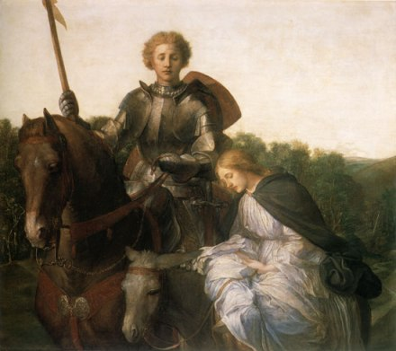 Una et le chevalier de la Croix-Rouge_George Frederick Watts - 1860