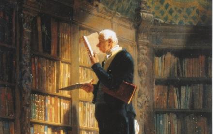 Bookworm_Carl Spitzweg_1850