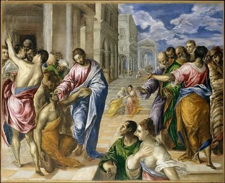 Le Christ guérissant l'aveugle