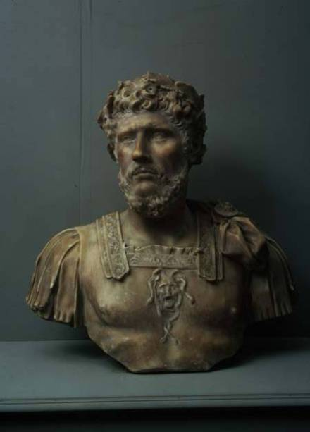 AII80628 Marcus Aurelius, bust by Pierre Puget (1620-94) (marble) marble 64.5x67x27 Museo di Sant'Agostino, Genoa, Italy copyright unknown